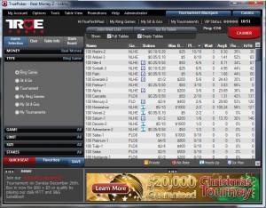True Poker Lobby